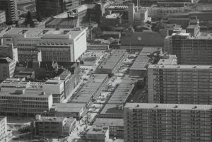 Lijnbaan luchtfoto jaren 60
