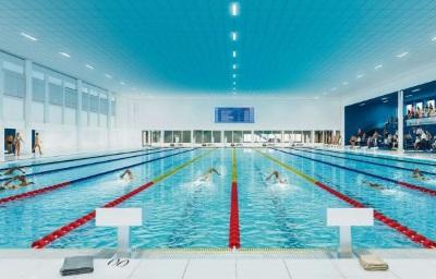 Zwembad hart van zuid opgeleverd nieuwbouw architectuur rotterdam